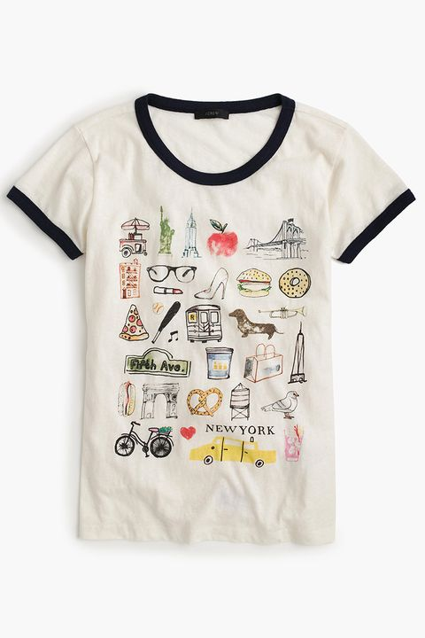 j. crew new york graphic tee shirt