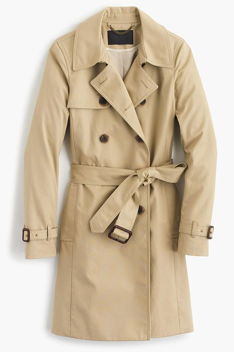 j. crew icon trench coat in light khaki