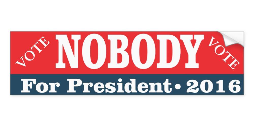 Political bumper stickers trump hilary