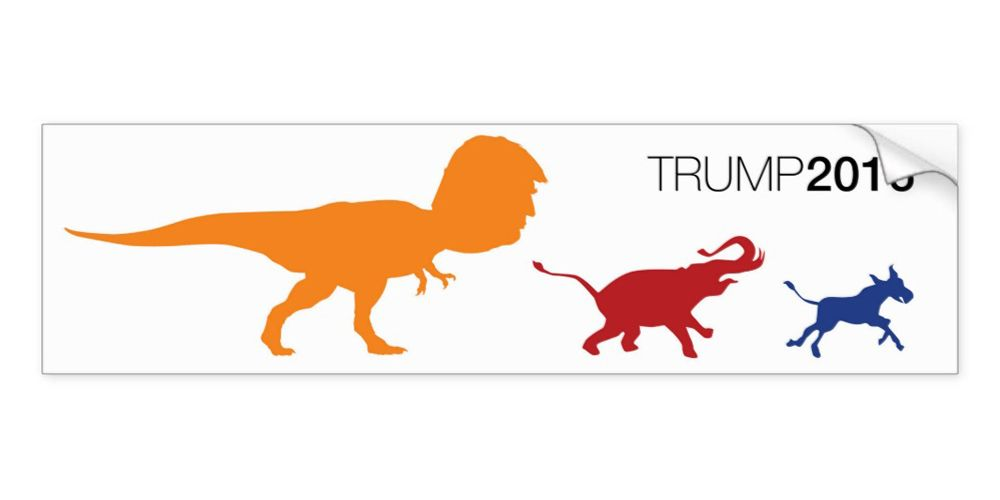 political bumper stickers trump hilary