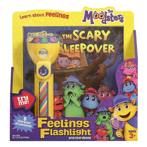 The Moodsters Scary Sleepover Book and Flashlight