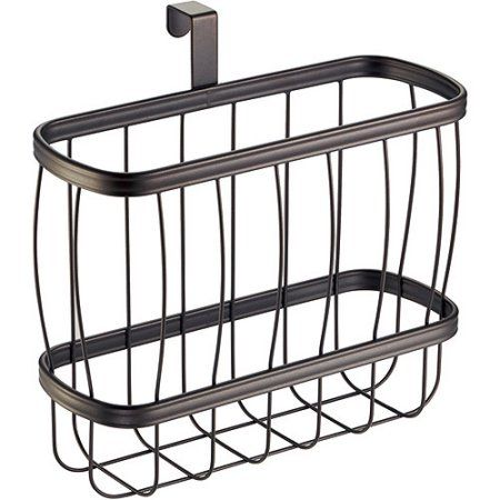 InterDesign York Lyra Newspaper and Magazine Rack for Bathroom Storage
