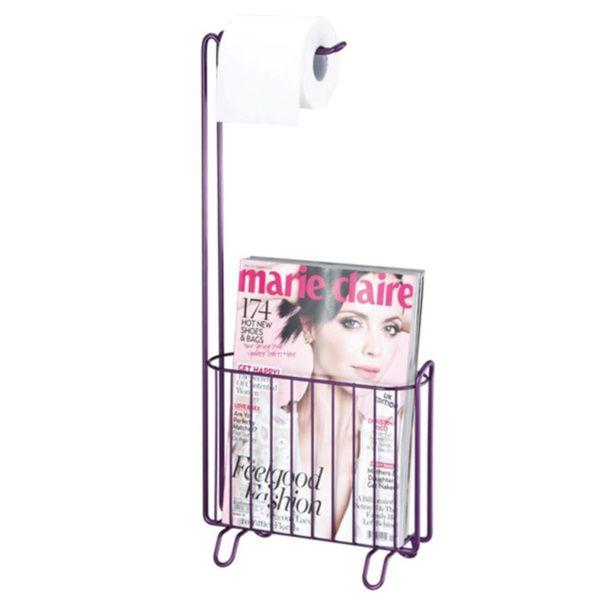 Overstock Toilet Paper Holder Magazine Rack