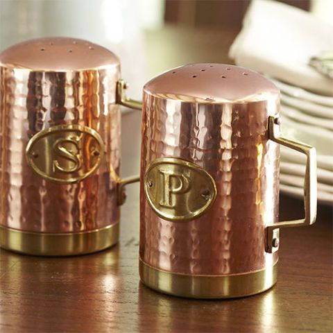 Birch Lane Hammered Copper Salt & Pepper Shakers