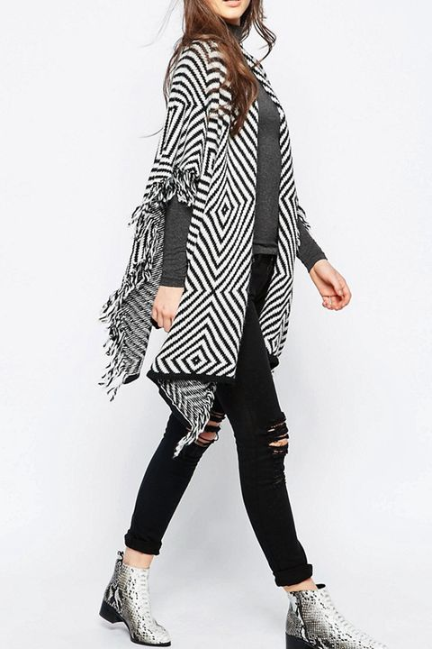 Wal G Cardigan With Fringe Detail