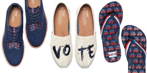 Toms rock the vote shoes and accessories