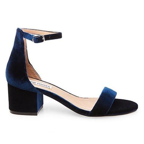 steve madden irenee blue velvet city sandals