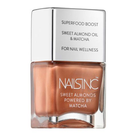 Nails Inc. Mayfair Market Sweet Almond Polish Powered by Matcha