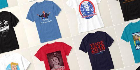 Clinton Trump tshirts