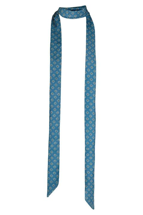 topshop blue pj motif satin skinny scarf