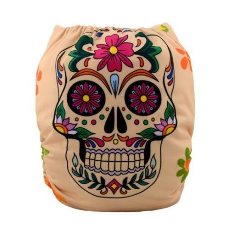 Sugar Skull Cloth Diaper