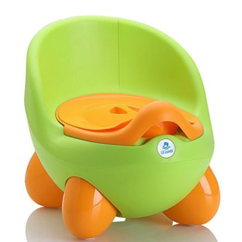Little Jumbo Green and Orange Potty Chair