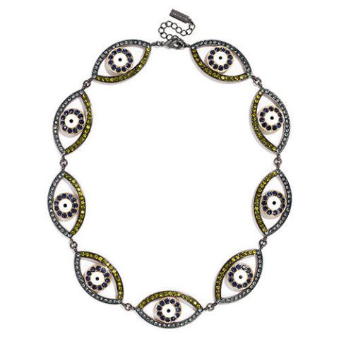 baublebar crystal evil eye necklace