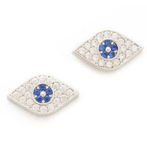 tai evil eye crystal stud earrings