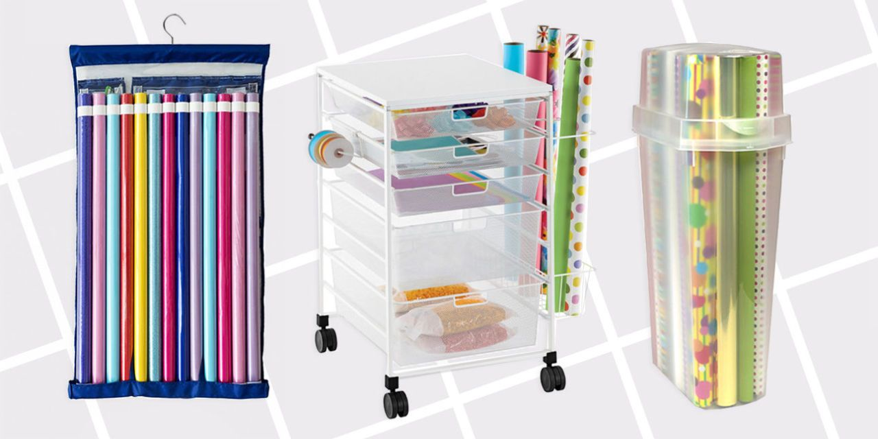 Lovely Wrapping Paper Organizers