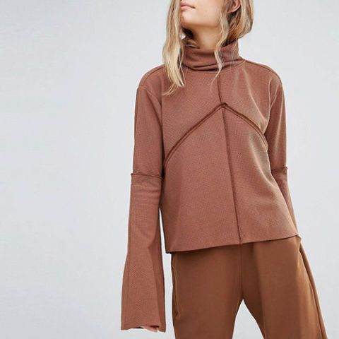 House of Sunny High Neck Sweater With Extra Long Sleeves Co-Ord