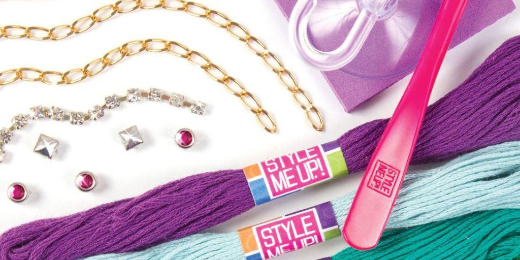 Necklace Bracelet Bead Making Jewellery Kit Gift for Kids Christmas Pink Purple