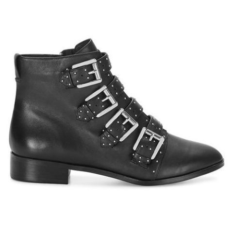 rebecca minkoff maddox studded ankle bootie black