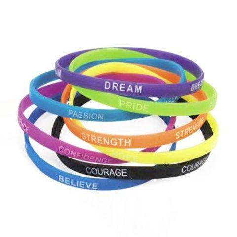12-Pack Inspirational Bracelets