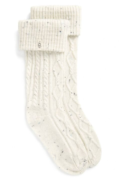 ugg shaye tall boot socks in ivory