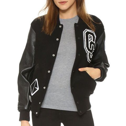 opening ceremony black varsity jacket