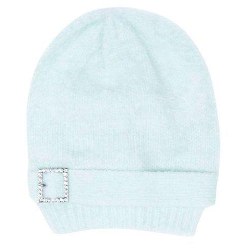target crystal buckle mint beanie hat