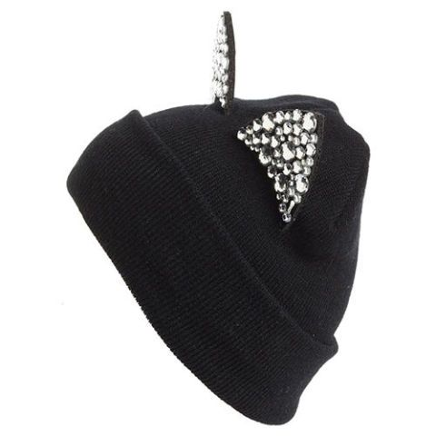 tasha crystal cat ear black beanie