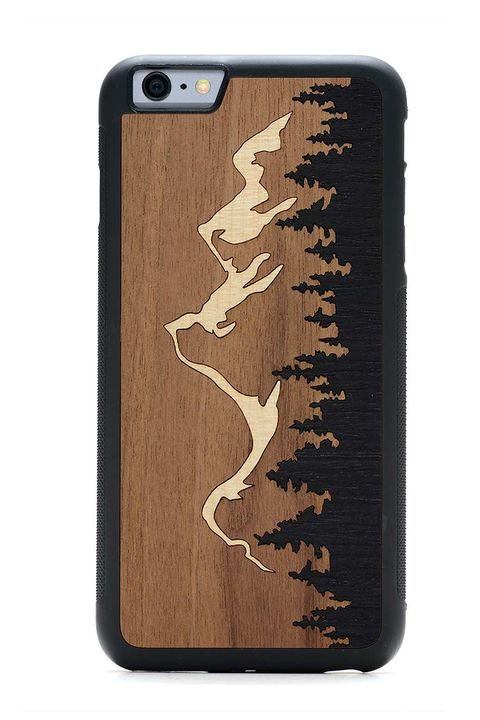 Carved Inlay Wood Case