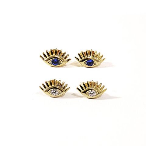 amandadeer Evil Eye Stud Earrings