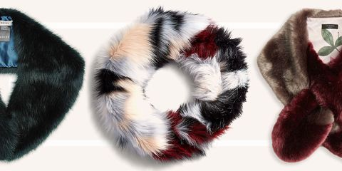 0e9cd547cced6 Looking for a way to make your coat feel a bit more glamorous? Try layering  a faux-fur stole over the collar. These fluffy scarf alternatives keep you  warm ...