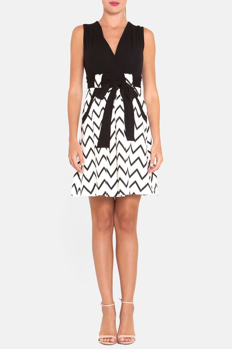 Chevron Print Maternity Dress