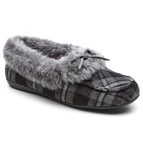 Hombre Check Tartan Soft Warm Fleece Holiday Lined Flat Zapatos Slipper Holiday Fleece Comfortable 98104f