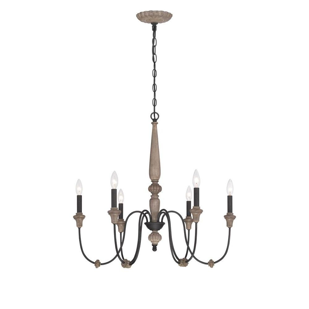 World Imports Capra Collection 6-Light Rust Chandelier