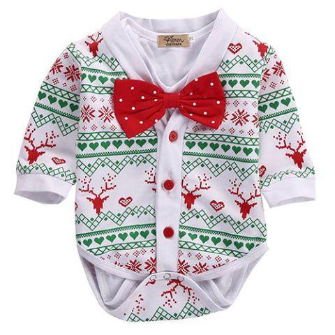 newborn baby christmas playsuit