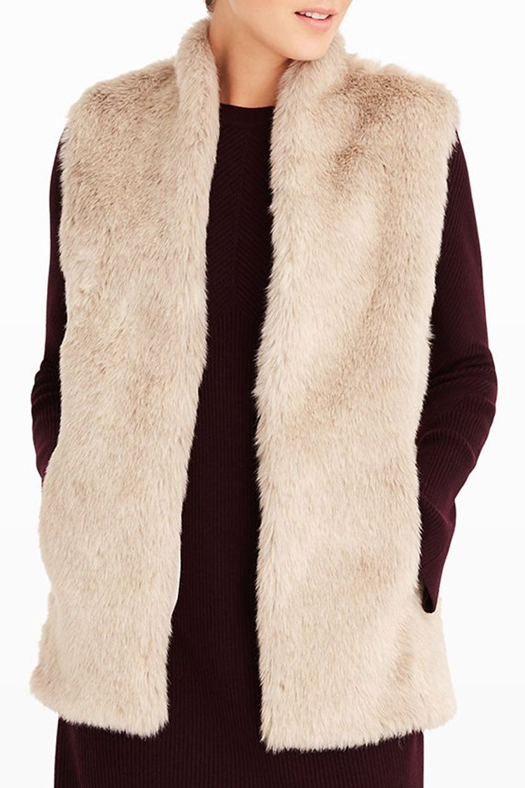Fur vests are quintessentially versatile, making them a great transitional piece of outerwear that any woman could appreciate. While sleeveless they might be, their furry construction makes them just the right amount of warm.