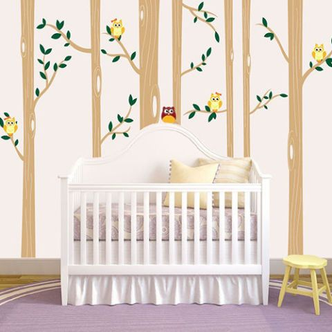 Tree Wall Decal Nursery Owl Woodland