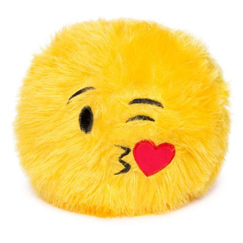 Kissing Heart Emoji Expressions Plush Pillow