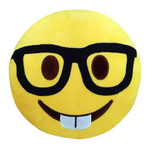 Jumbo Nerdy Emoji Pillow