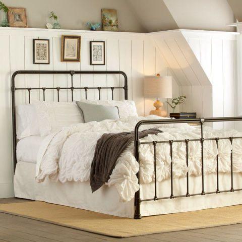 Black Matte Rattan Bed Frame