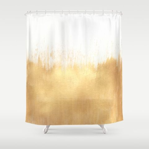 brushed-gold-shower-curtains