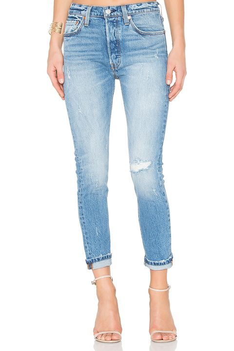 levi's 501 skinny jeans in light blue wash