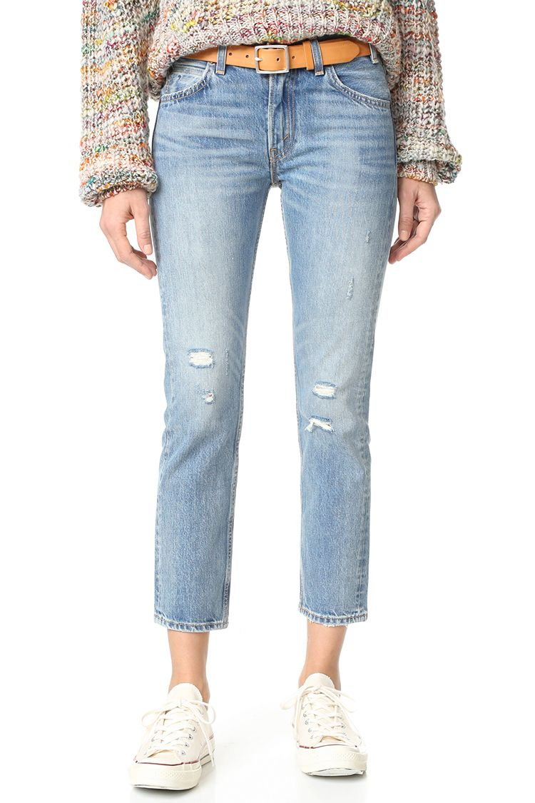 levis 505 cropped slim jeans