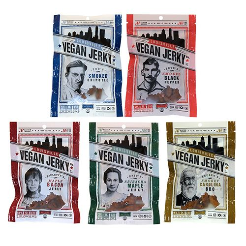 "<p><strong data-redactor-tag=""strong"" data-verified=""redactor""><em data-redactor-tag=""em"" data-verified=""redactor"">5-pack for $36</em></strong> <a href=""https://www.amazon.com/Louisville-Vegan-Jerky-Variety-Pack/dp/B01N8SLC7N/?tag=bp_links-20"" target=""_blank"" class=""slide-buy--button"" data-tracking-id=""recirc-text-link"">BUY NOW</a></p><p>Louisville Vegan Jerky is best known for its creative flavors like Smoked Chipotle, Sriracha Maple, and Smokey Carolina BBQ. Each batch is made from non-GMO soy and is totally gluten free, yet somehow manages to get that a deliciously chewy, somewhat springy texture just right. We suggest trying out a variety pack to figure out which flavor is your favorite, but if you ask this lifelong jerky lover, the Smoked Black Pepper is particularly amazing. </p><p><strong data-redactor-tag=""strong"" data-verified=""redactor"">More:</strong> <a href=""http://www.bestproducts.com/buzzing-news/news/a662/ben-and-jerrys-new-vegan-ice-cream-flavours/"" target=""_blank"" data-tracking-id=""recirc-text-link"">Ben & Jerry's Just Launched 2 New Vegan Ice Cream Flavors</a></p>"