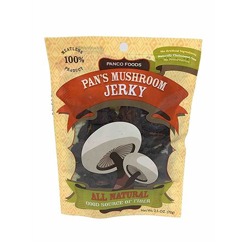 "<p><strong data-redactor-tag=""strong"" data-verified=""redactor""><em data-redactor-tag=""em"" data-verified=""redactor"">$7 per bag</em></strong> <a href=""https://www.amazon.com/Pans-Mushroom-Jerky/dp/B0031LYB96/?tag=bp_links-20"" target=""_blank"" class=""slide-buy--button"" data-tracking-id=""recirc-text-link"">BUY NOW</a></p><p>Pan's Mushroom Jerky is the best and weirdest and most delicious snack I think I've ever had. It's made from the stems of mushrooms&nbsp;,which already&nbsp;have a&nbsp;super&nbsp;meaty flavor to begin with, but&nbsp;it's&nbsp;enhanced with a&nbsp;sweet-and-salty flavor by the addition of brown sugar and&nbsp;some&nbsp;non-descript&nbsp;spices. It contains egg whites for textural purposes, but the flavor isn't affected too much by them. This unique snack is not like any jerky I've had before, but it has quickly made it to the top of my list of&nbsp;favorites.&nbsp;</p>"