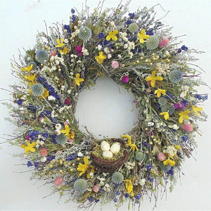 10 best spring wreaths for 2018 beautiful flower wreaths for Best place to buy wreaths