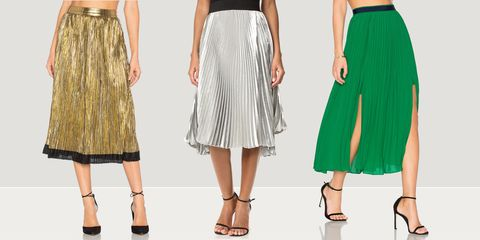 f48348707 11 Best Pleated Midi Skirts for 2018 - Leather, A Line & Black Midi ...
