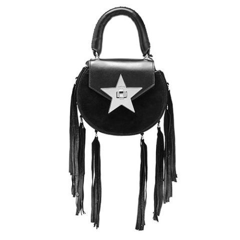salar mimi fringe black bag