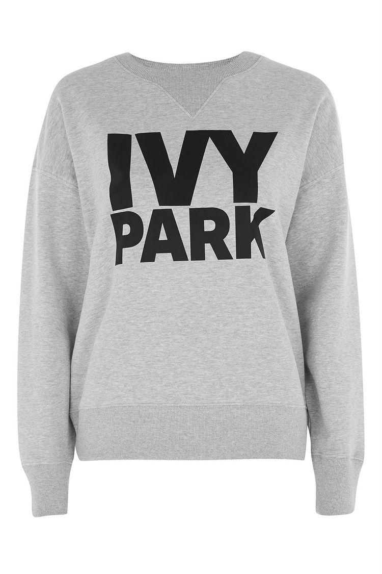 ivy park logo sweatshirt gray