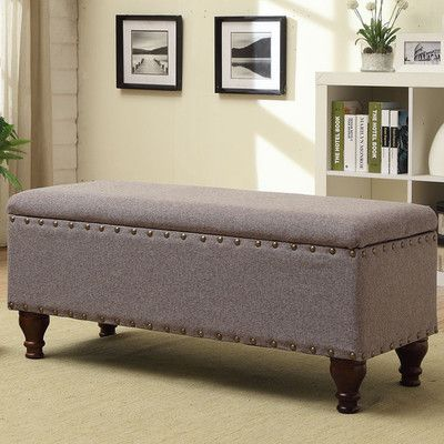 Three Posts Lattimer Upholstered Storage Entryway Bench