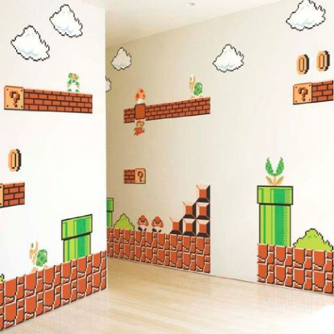 Super Mario Bros. Wall Graphic Decals